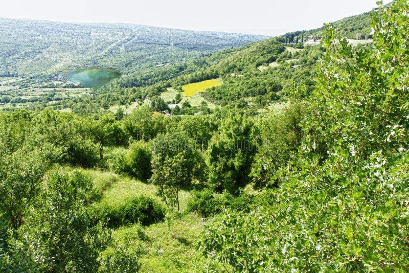 Хорватская сельская местность стоковая фотография