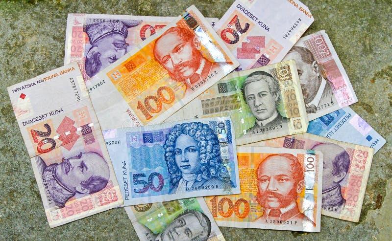 хорватские деньги стоковое фото rf