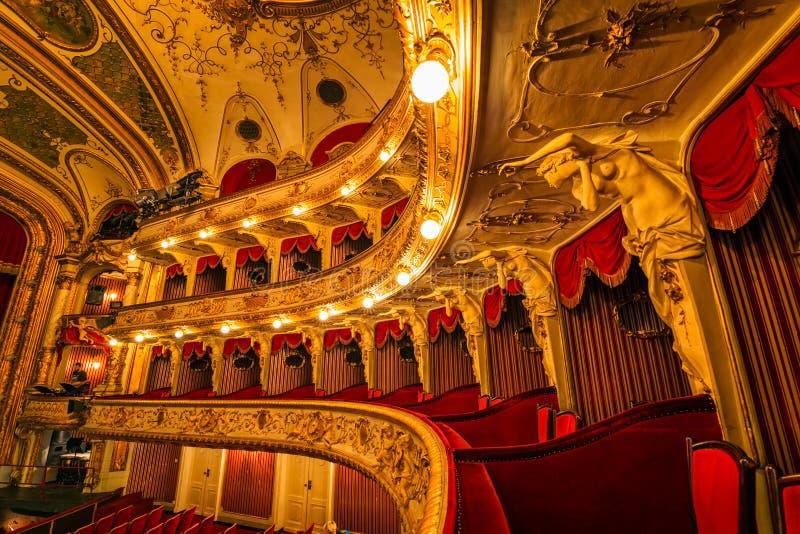 Хорватские лоджии национального театра стоковое изображение rf