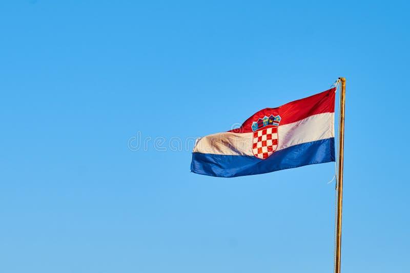 Хорватский национальный флаг стоковые изображения