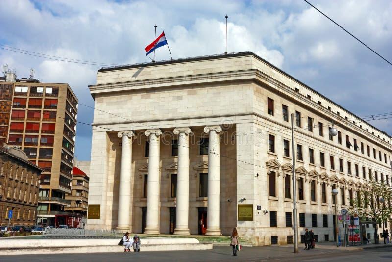 Хорватский национальный банк, Загреб стоковое изображение