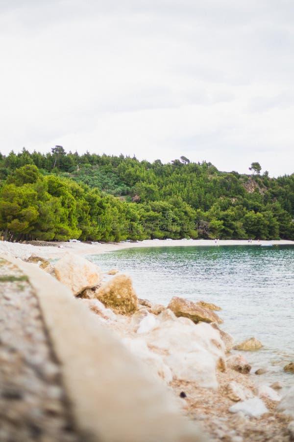 Хорватский пляж стоковая фотография rf