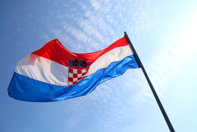 хорватский флаг стоковая фотография rf