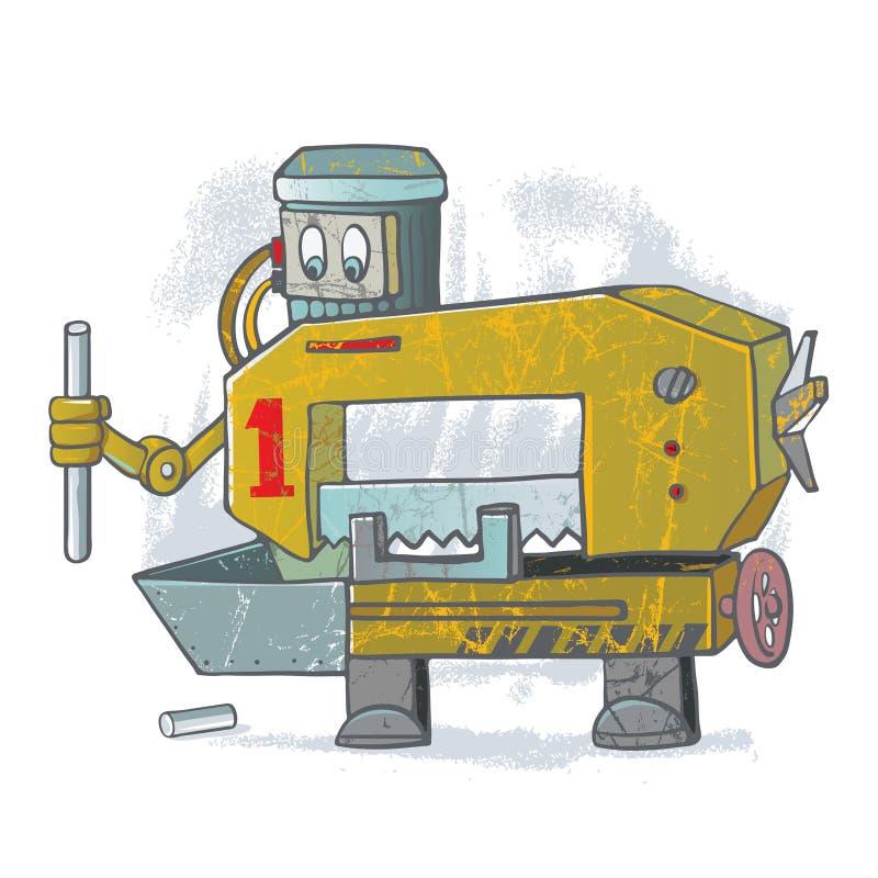 Хорошая пила робота иллюстрация вектора