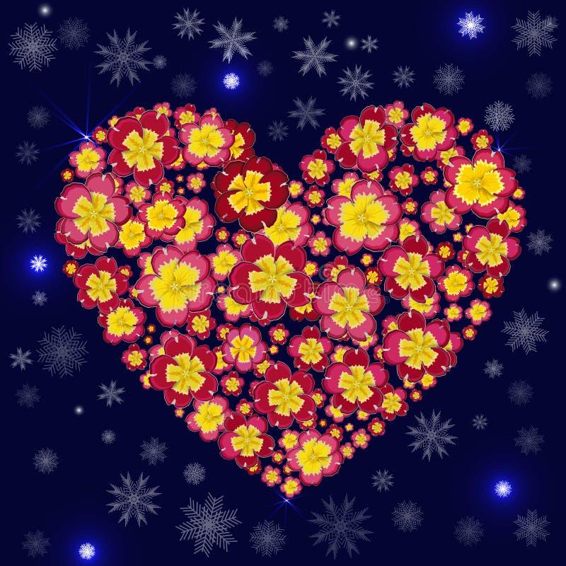 Хорошая предпосылка рождества с снежинками, искрами и флористическим иллюстрация вектора