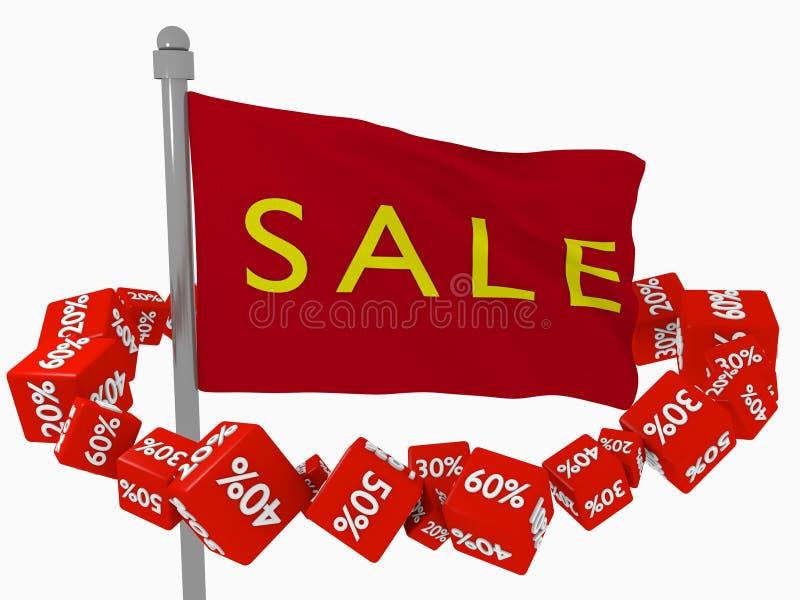 Хорошая продажа для покупателей иллюстрация вектора