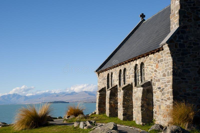 Хорошая церковь чабана - озеро Tekapo - Новая Зеландия стоковое изображение rf