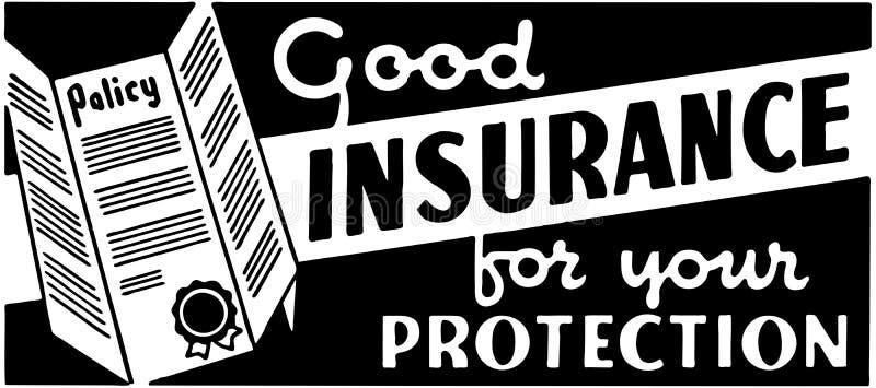 Хорошее страхование 2 иллюстрация вектора
