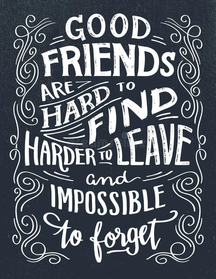 Хорошие друзья трудны для того чтобы найти цитата бесплатная иллюстрация