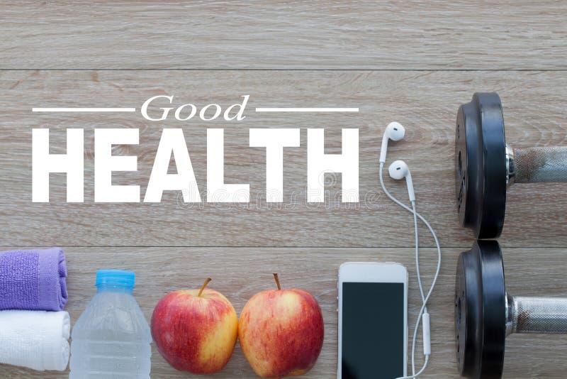 хорошие здоровья принципиальной схемы Здоровый образ жизни для предпосылки стоковые фото