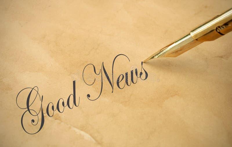Хорошие новости стоковое изображение