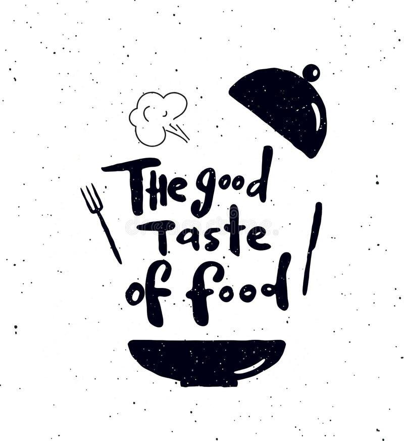 Хороший вкус еды иллюстрация вектора