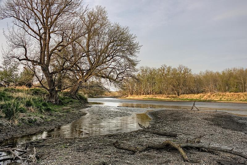 Хороший парк штата земли городской парк штата на краю Sioux Falls, зоны метро Южной Дакоты стоковая фотография