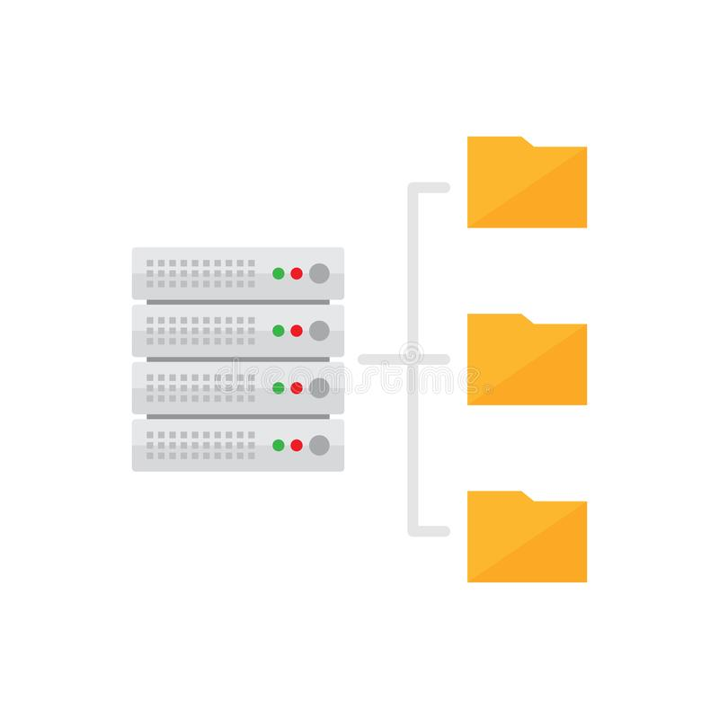 Хостинг сервера Икона базы данных иллюстрация штока