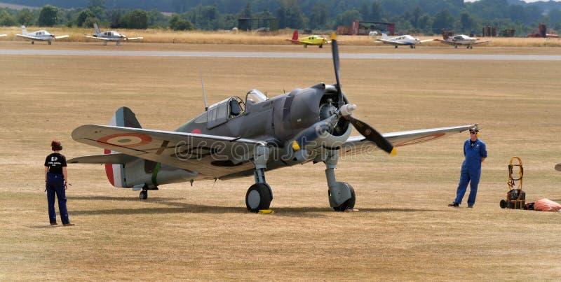 Хоук Curtiss P-36, также известный как модель 75 хоука Curtiss, Американск-конструированная и построенная истребительная авиация  стоковые изображения