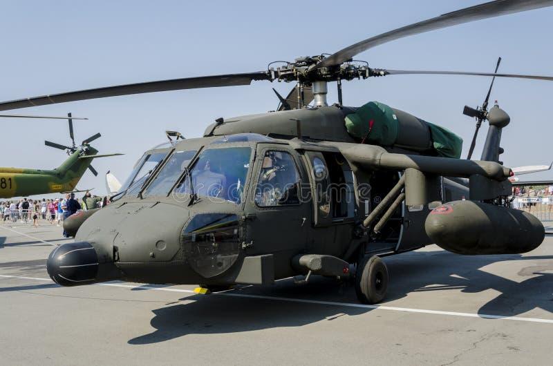 Хоук Sikorsky S-70a черный стоковые фото