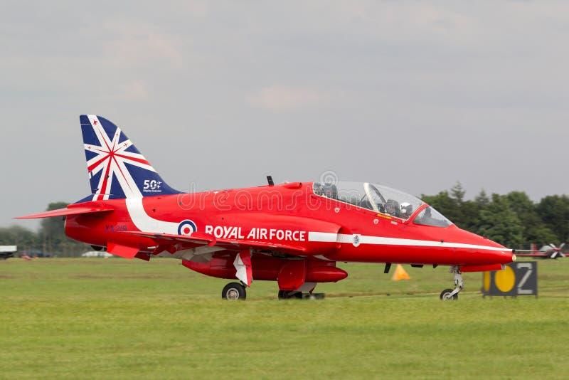 Хоук t Siddeley лоточницы RAF военно-воздушных сил Великобритании 1A XX219 команды демонстрации высшего пилотажа военно-воздушных стоковое фото