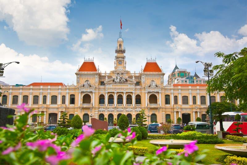 Хошимин Hall, Вьетнам стоковая фотография