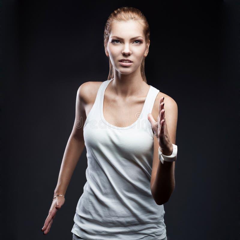 ход женщины спортсмена стоковые фотографии rf