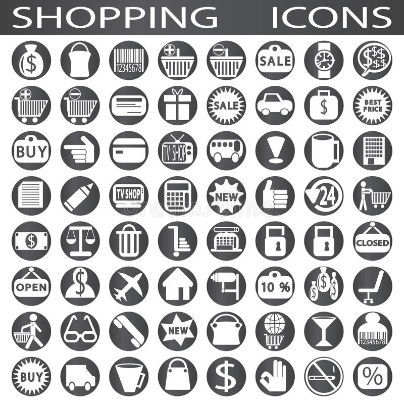 ходить по магазинам икон иллюстрация штока
