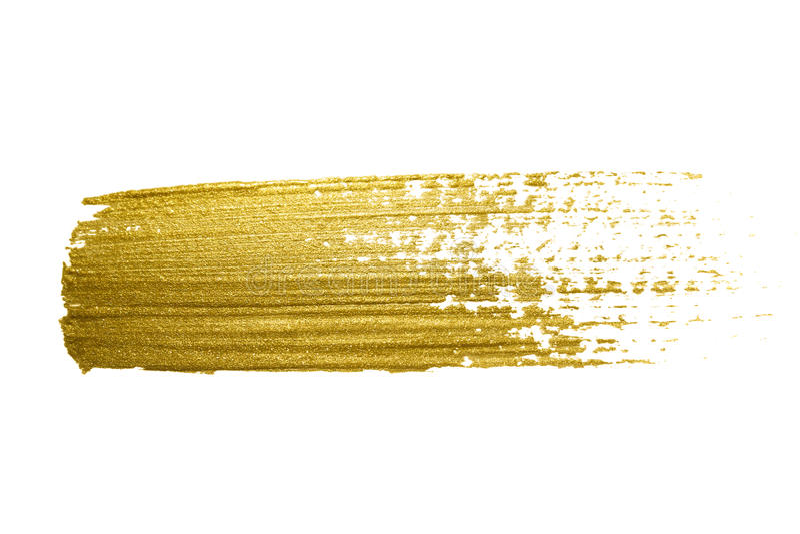 Ход кисти золота иллюстрация штока