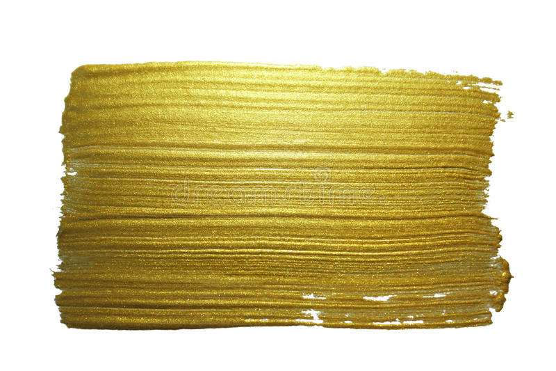 Ход кисти золота стоковая фотография rf