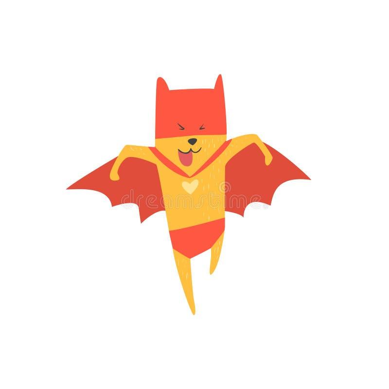 Ход кота супергероя иллюстрация вектора