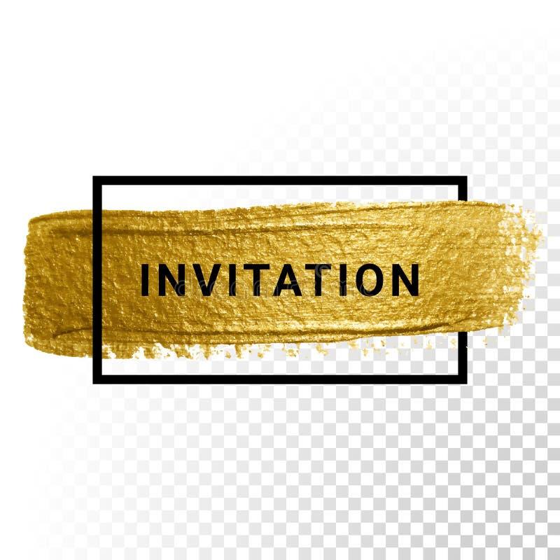 Ход краски золота вектора иллюстрация вектора