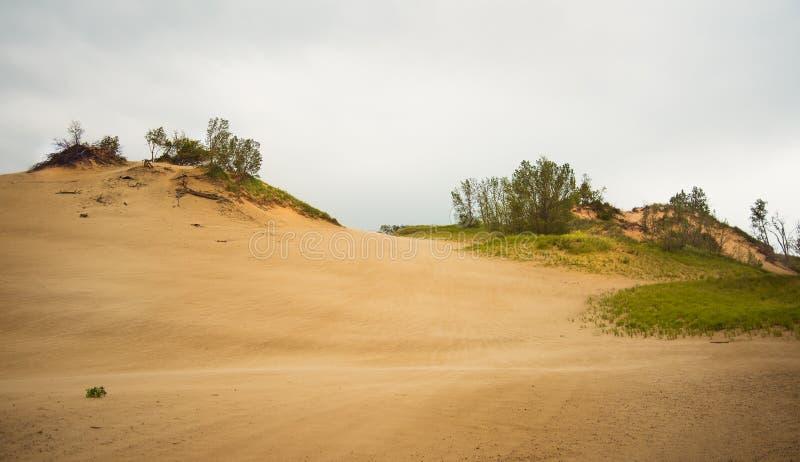Холмы песка на парке дюн Уоррена стоковое фото rf