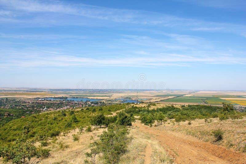 Холмы Ghioroc - Arad Румынии стоковое фото