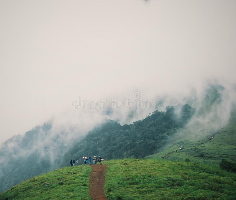 Холмы Paithalmala стоковое изображение rf