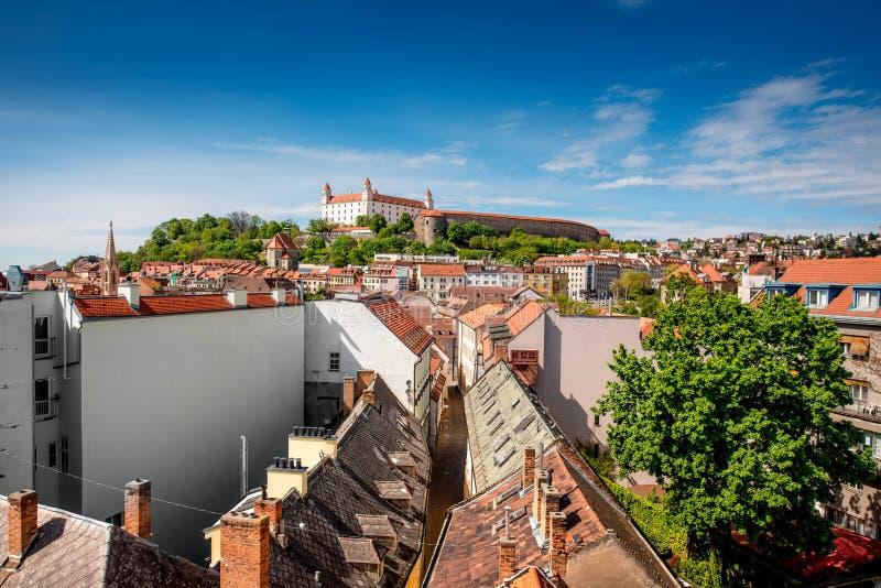 Холм замка Братиславы стоковые изображения