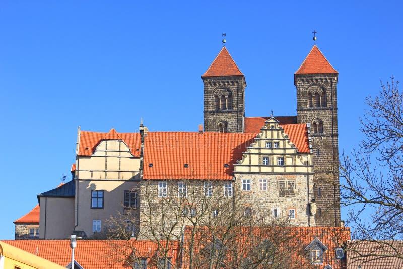 Холм Кведлинбург замка, Германия стоковое фото