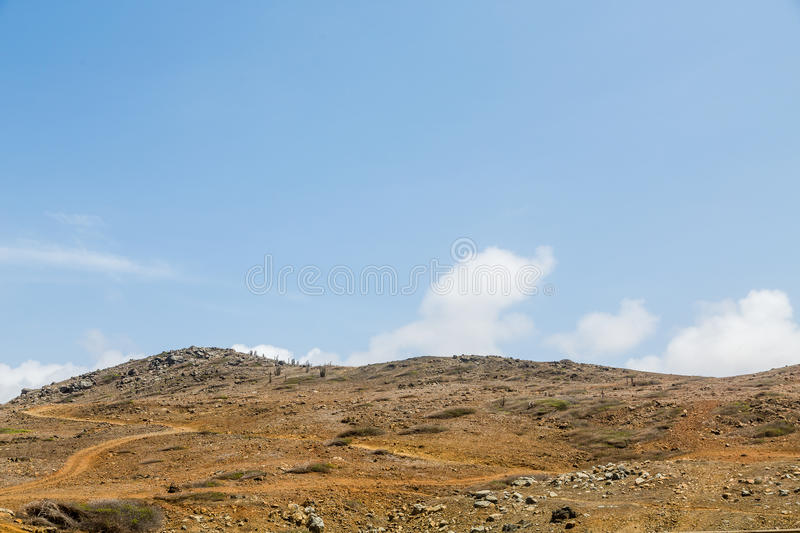 Холм пустыни на Аруба стоковые изображения rf
