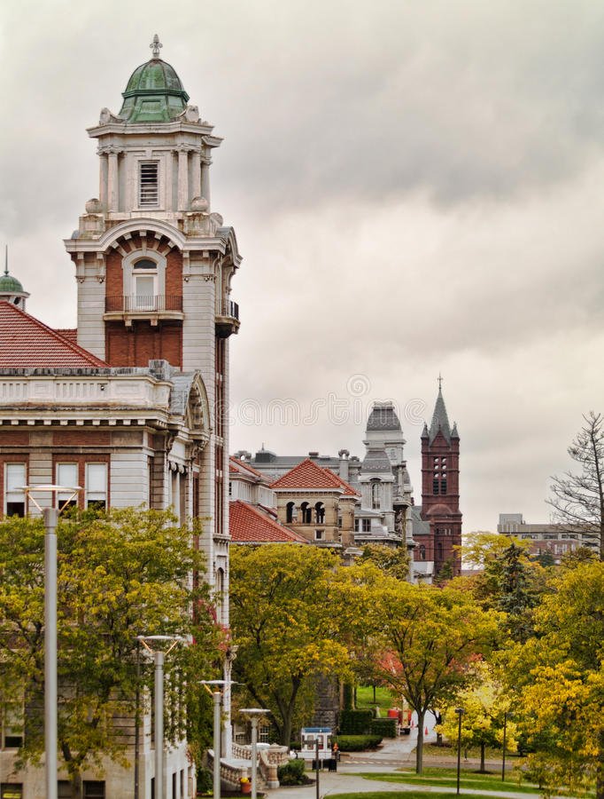 Холм университета Сиракуза стоковое фото