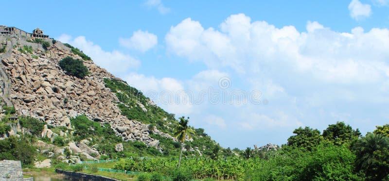 Холм форта Gingee стоковое изображение rf
