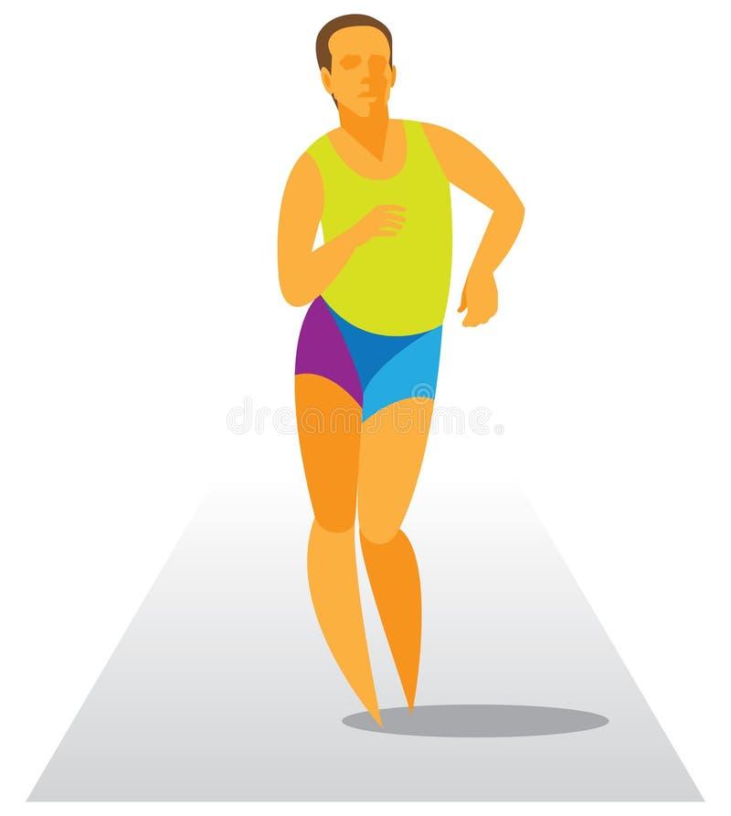 Ходок гонки в расстоянии конкуренции иллюстрация вектора