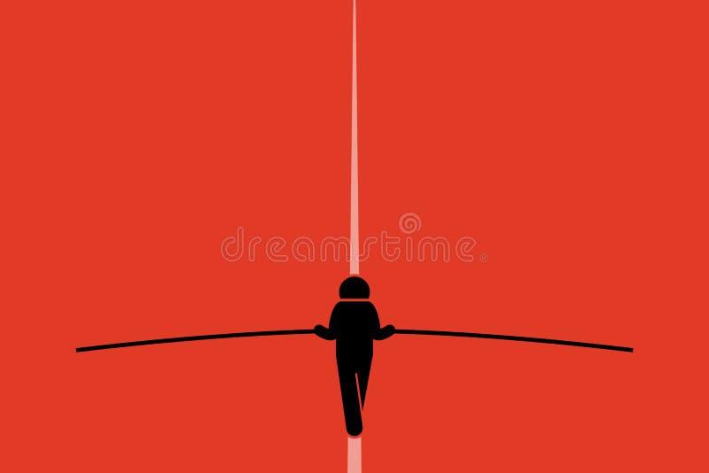 Ходок опасного положения иллюстрация вектора