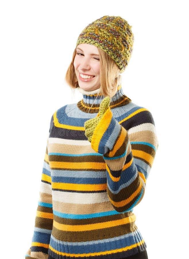 Холодная мода сезона стоковая фотография rf