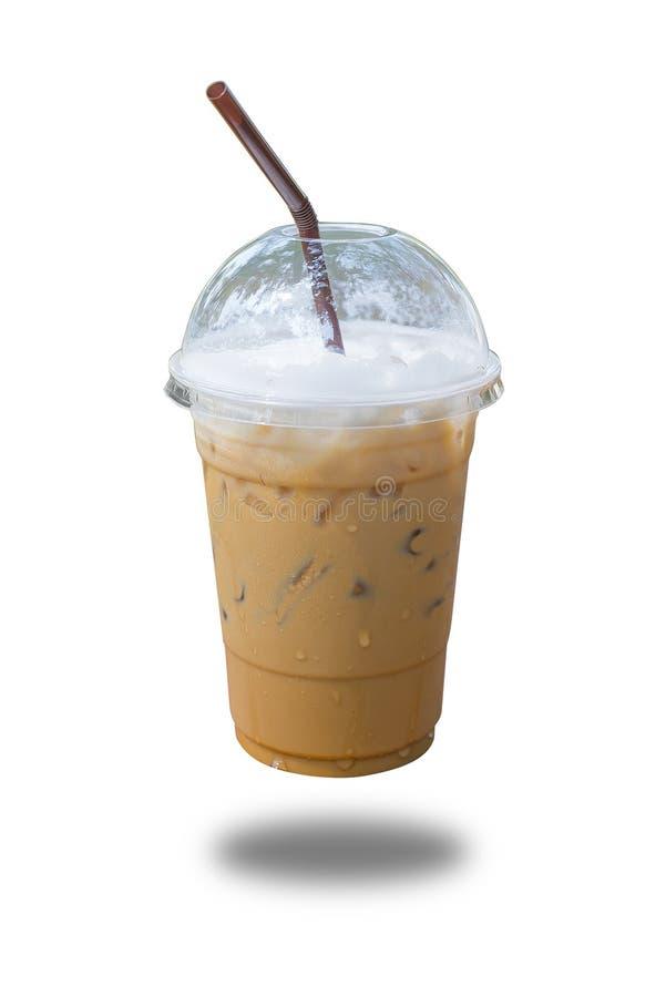 Холодные кофе и лед молока в стекле стоковое изображение