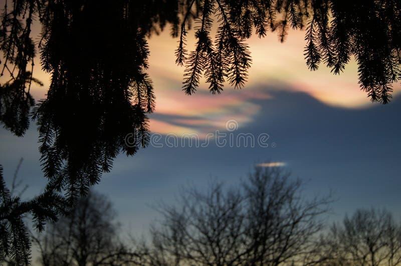 Холодные облака стоковые изображения rf