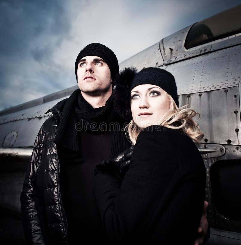 Холодные пары и самолет стоковые фото