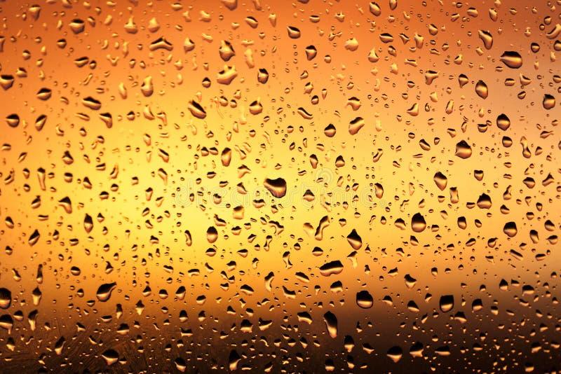 Холодные падения дождя на окне стоковые изображения