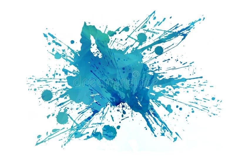 Холодный абстрактный выплеск Aqua иллюстрация вектора