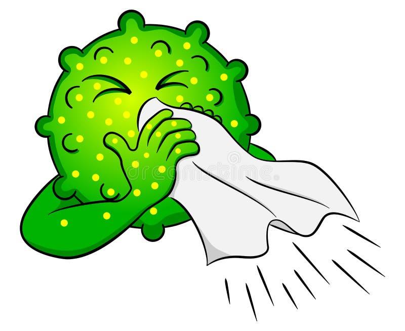 Холодный вирус болен бесплатная иллюстрация