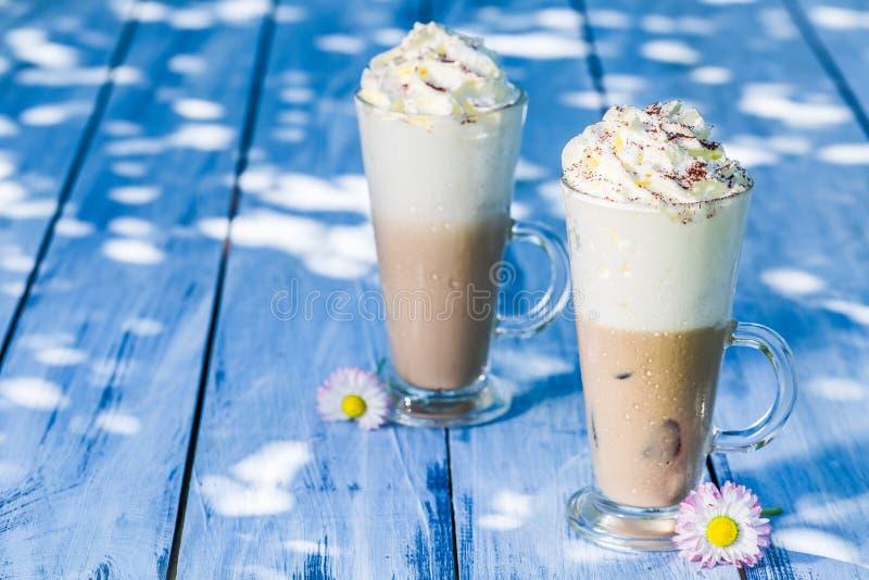 Холодный кофе с льдом стоковые изображения
