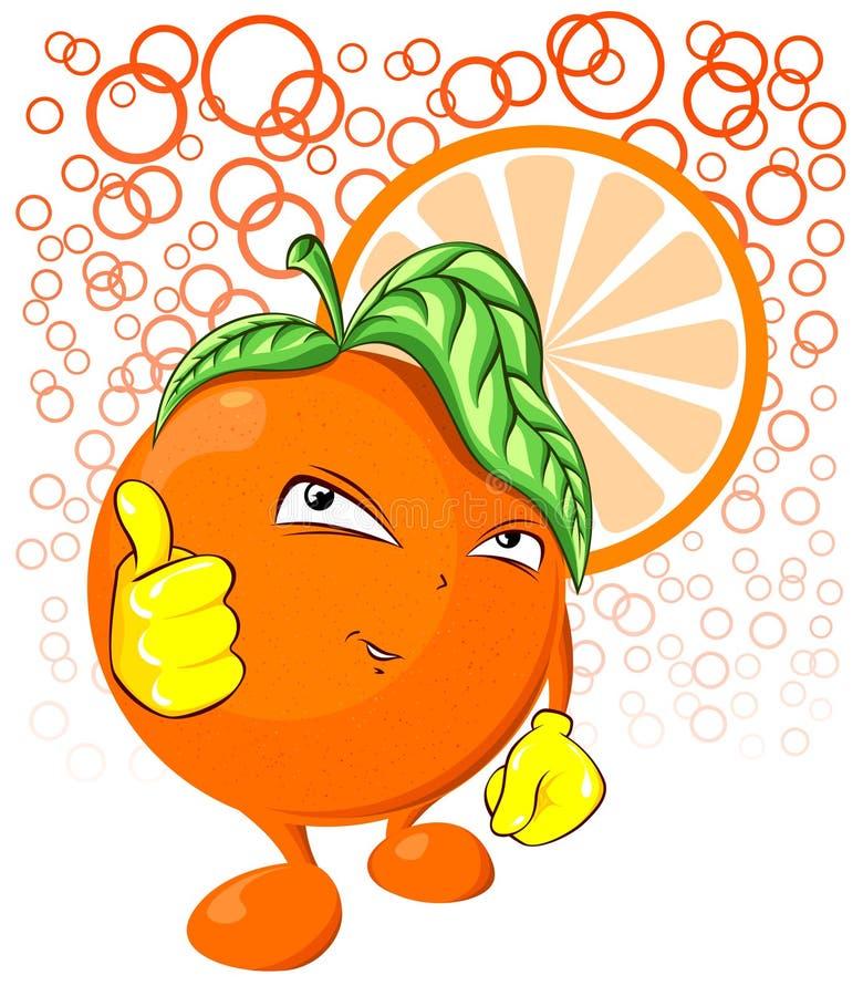 Холодный оранжевый характер плодоовощ стоковое изображение