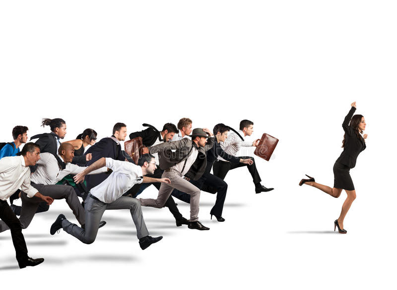 ход принципиальной схемы конкуренции бизнесмена дела портфеля стоковые изображения rf