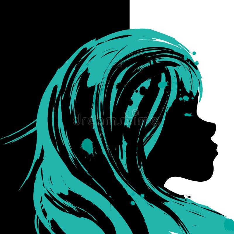 Холстина иллюстрации девушки иллюстрация штока