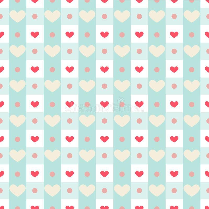 Холстинка с сердцами иллюстрация штока